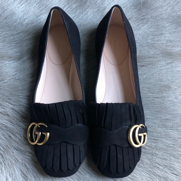 b93c83d6fd6 Gucci Shoes - New Gucci Marmont Black Loafers Flats 36
